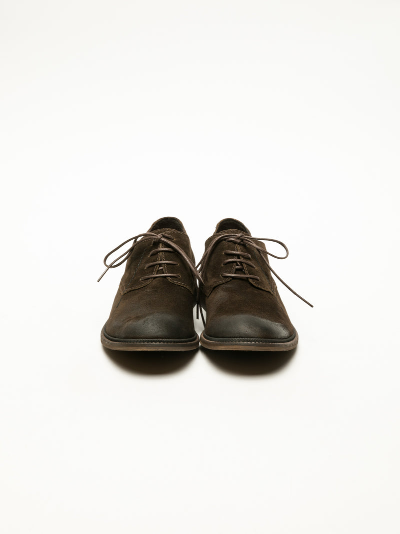 Fly London Brown Derby Shoes