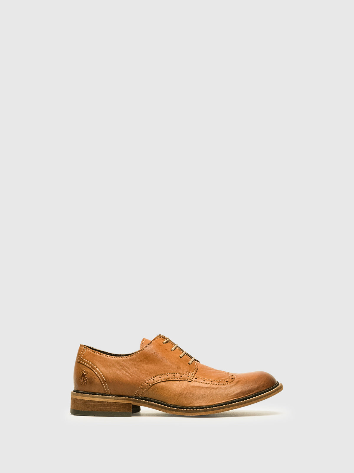 Fly London Chocolate Brown Derby Shoes