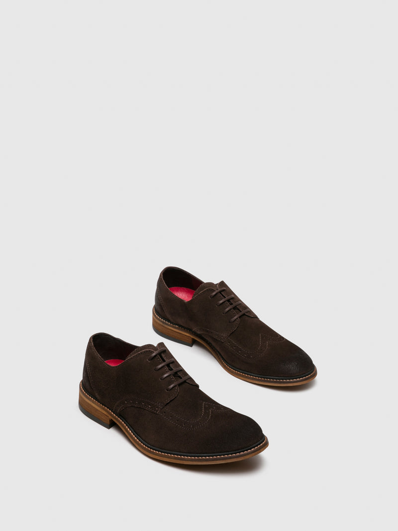 Fly London SaddleBrown Derby Shoes