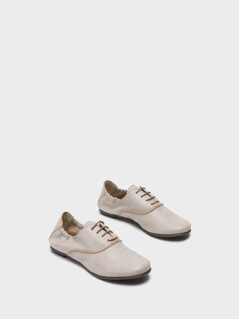 Beige Leather Oxford