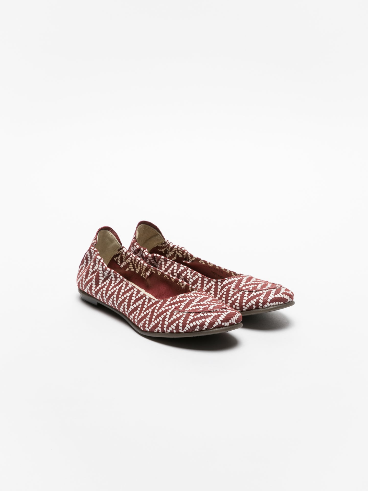Fly London Firebrick Round Toe Ballerinas