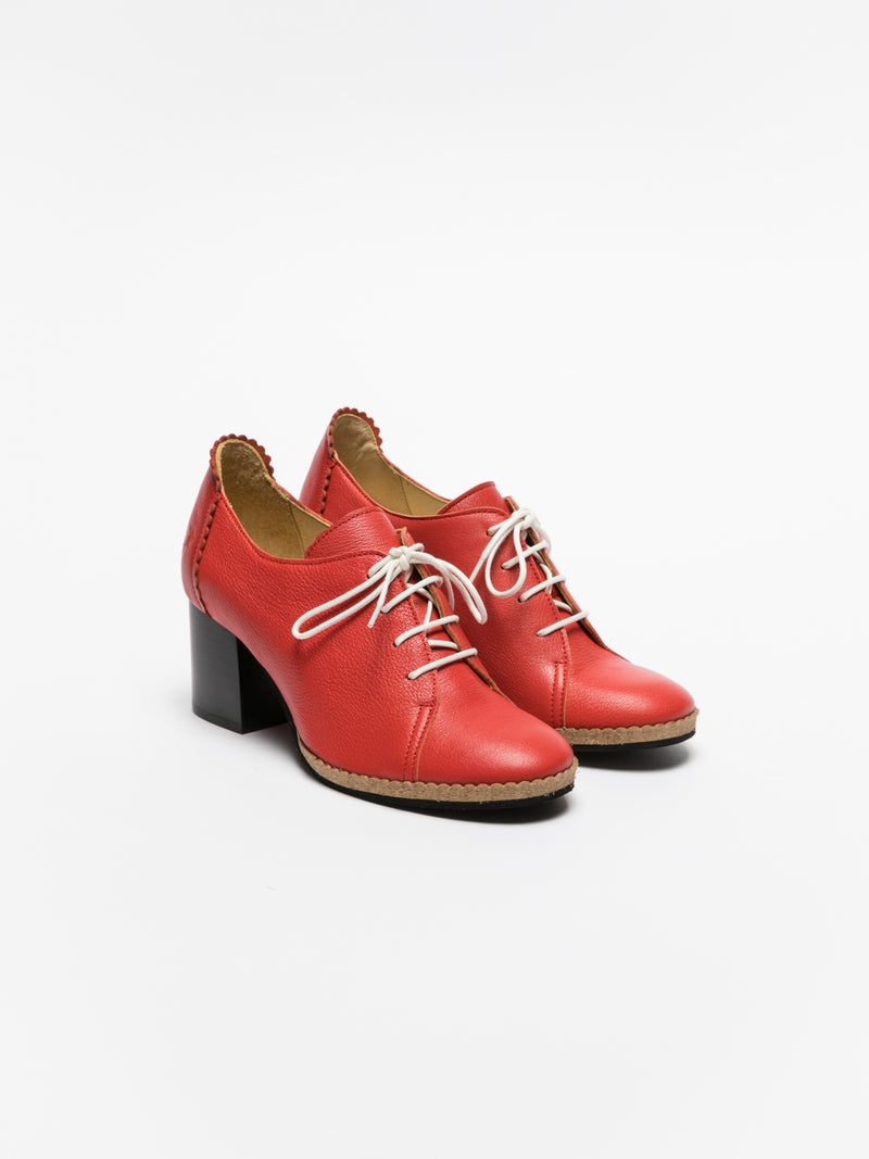 Fly London Red Lace-up Shoes