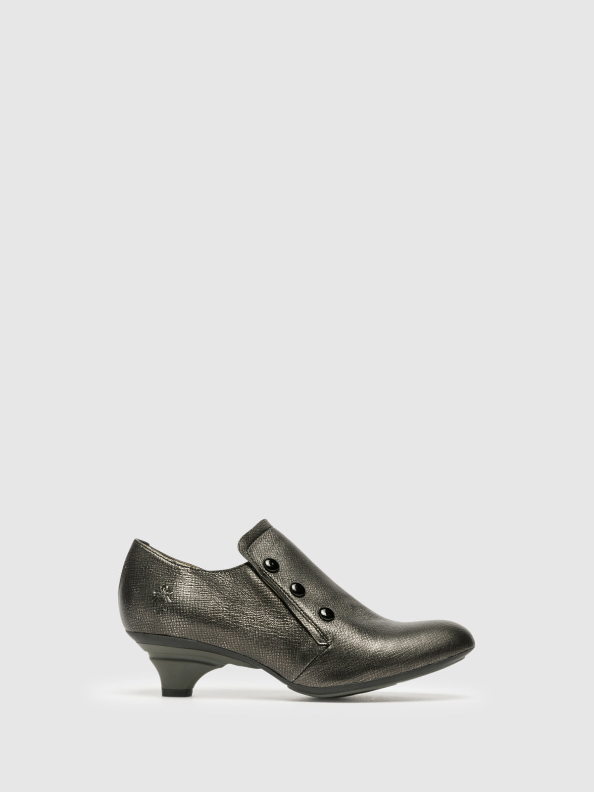 Fly London Silver Kitten Heel Shoes