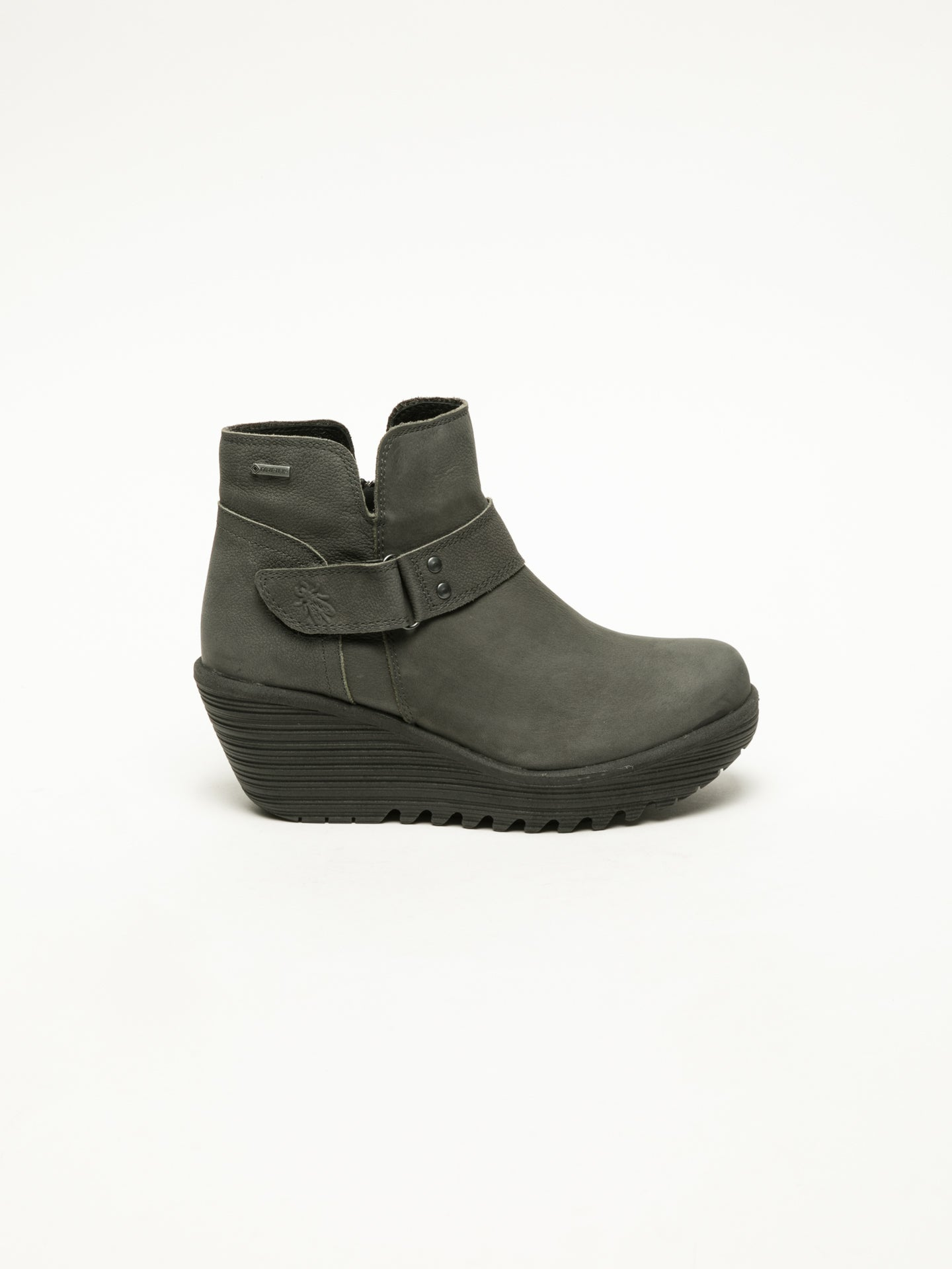 Fly London Gray Velcro Ankle Boots