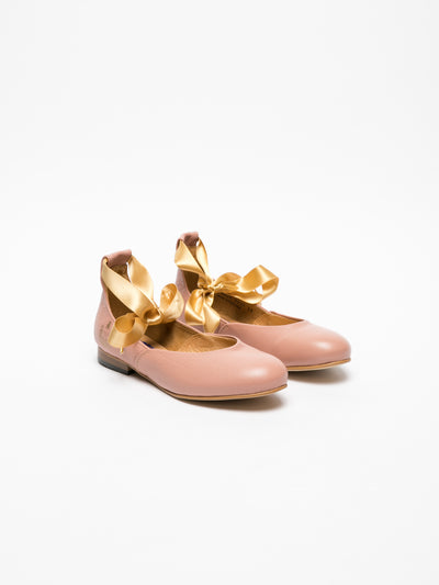 Fly London Pink Lace-up Ballerinas