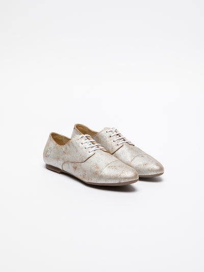 Fly London Beige Derby Shoes