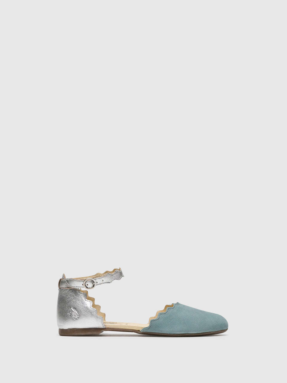 Fly London LightBlue Buckle Sandals