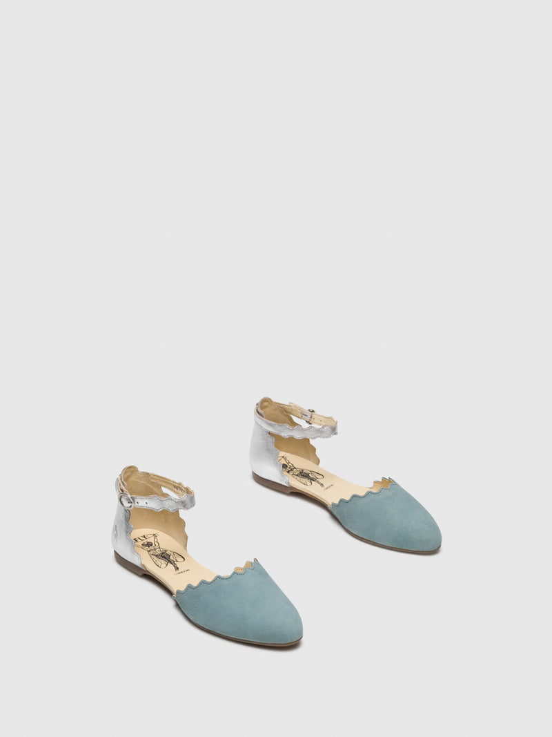 LightBlue Buckle Sandals