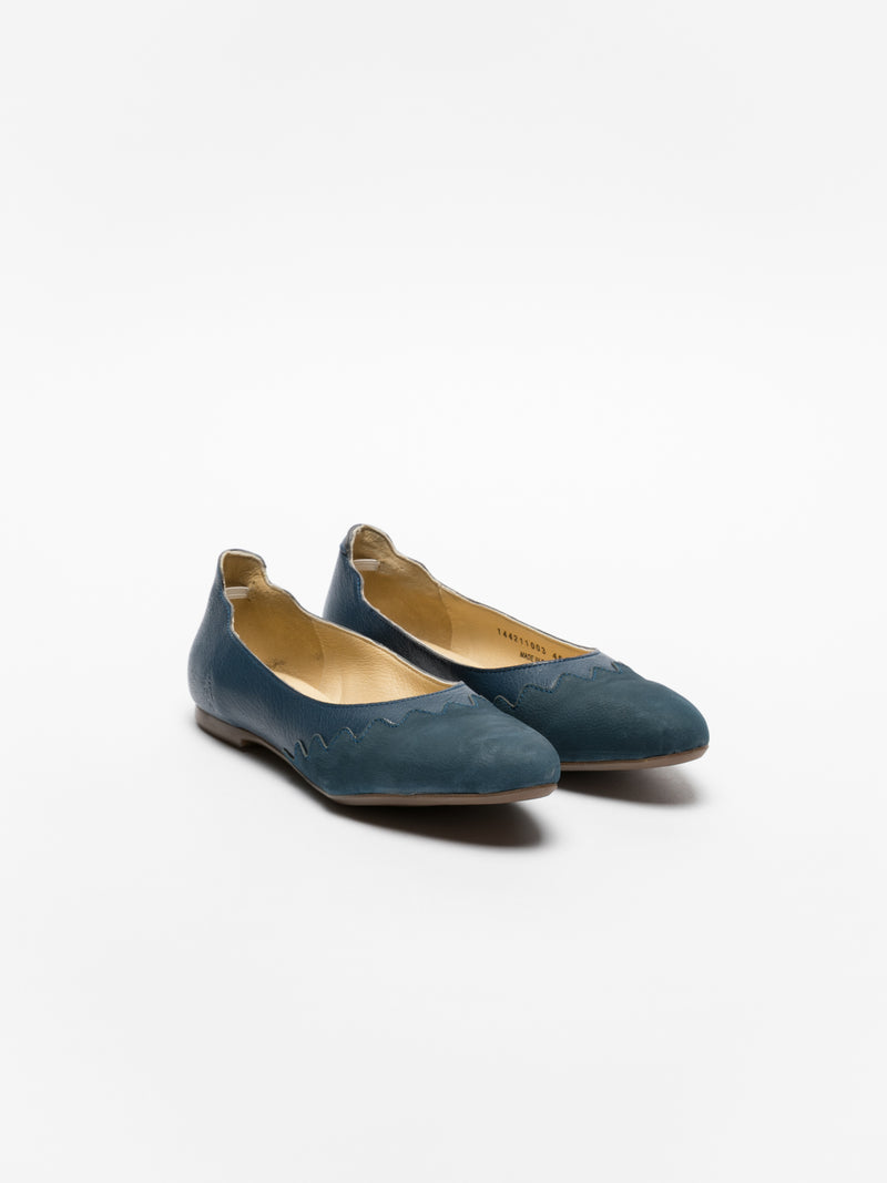 Fly London Blue Round Toe Ballerinas