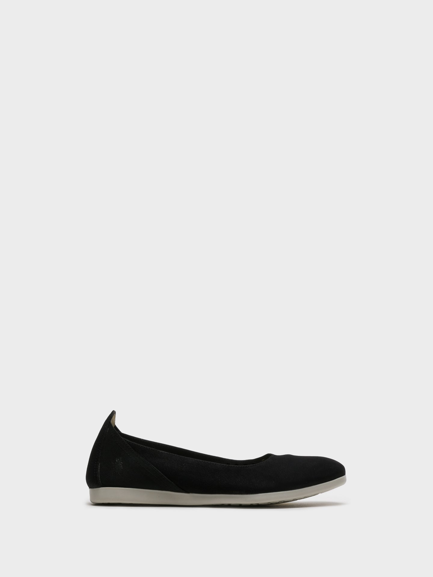 Fly London Black Elasticated Ballerinas