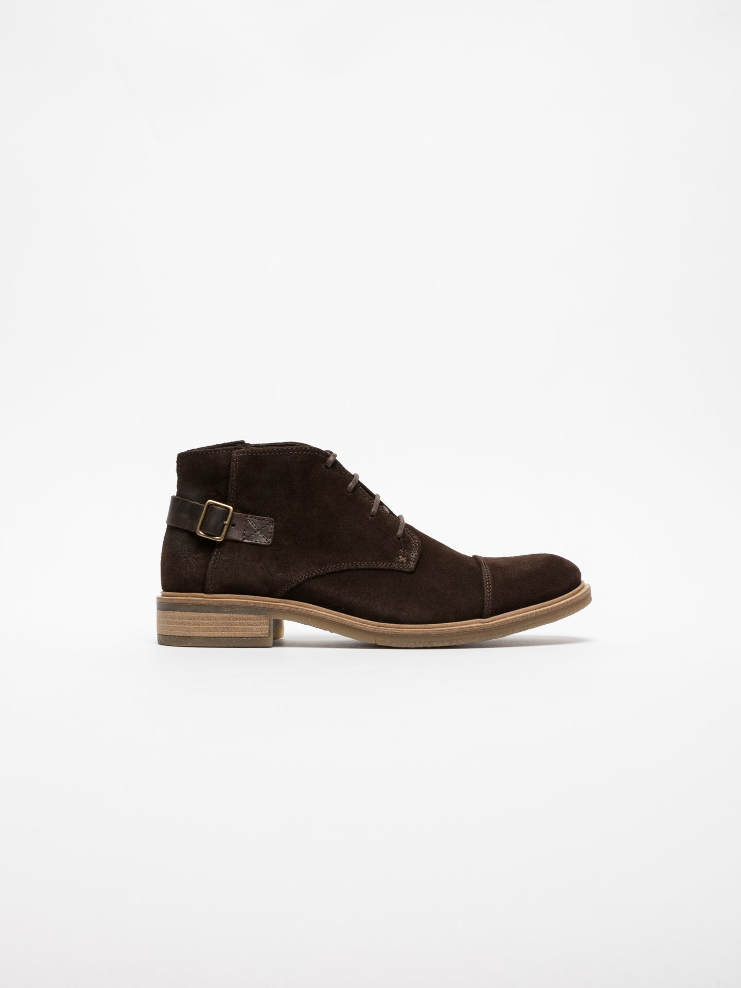 Fly London Brown Buckle Ankle Boots