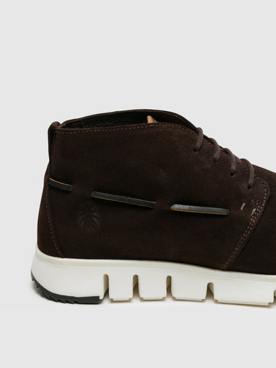 Fly London Brown Hi-Top Trainers