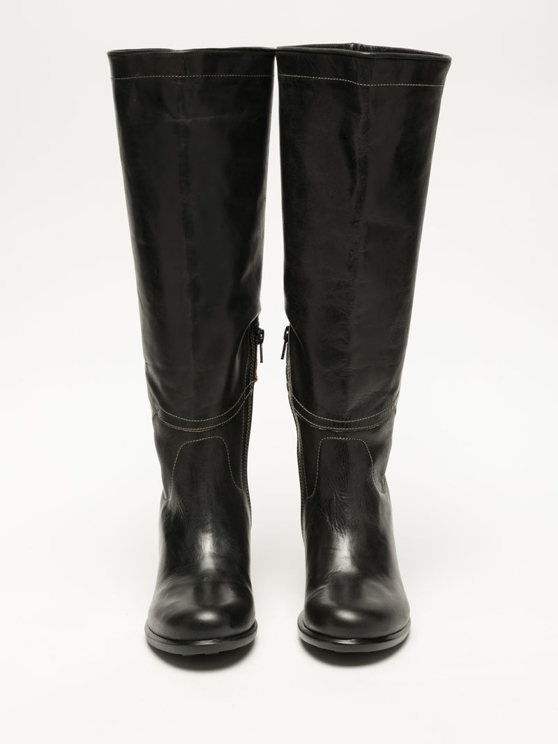 Black Knee-High Boots