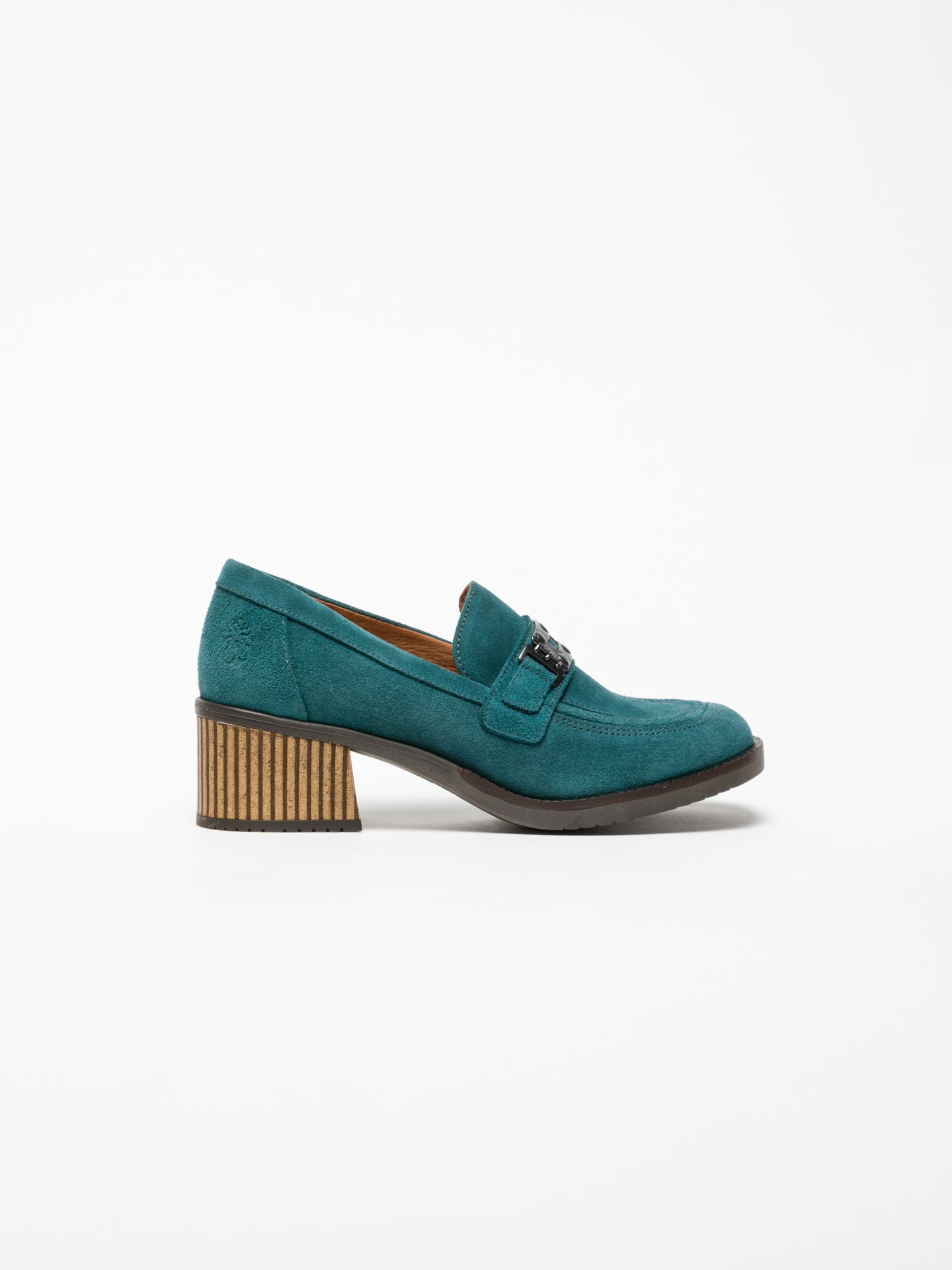 Fly London Blue Block Heel Shoes
