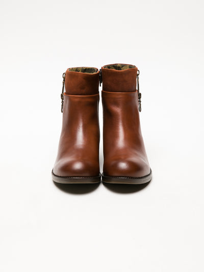 Fly London SaddleBrown Zip Up Ankle Boots