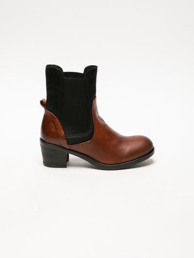 Fly London SaddleBrown Elasticated Ankle Boots