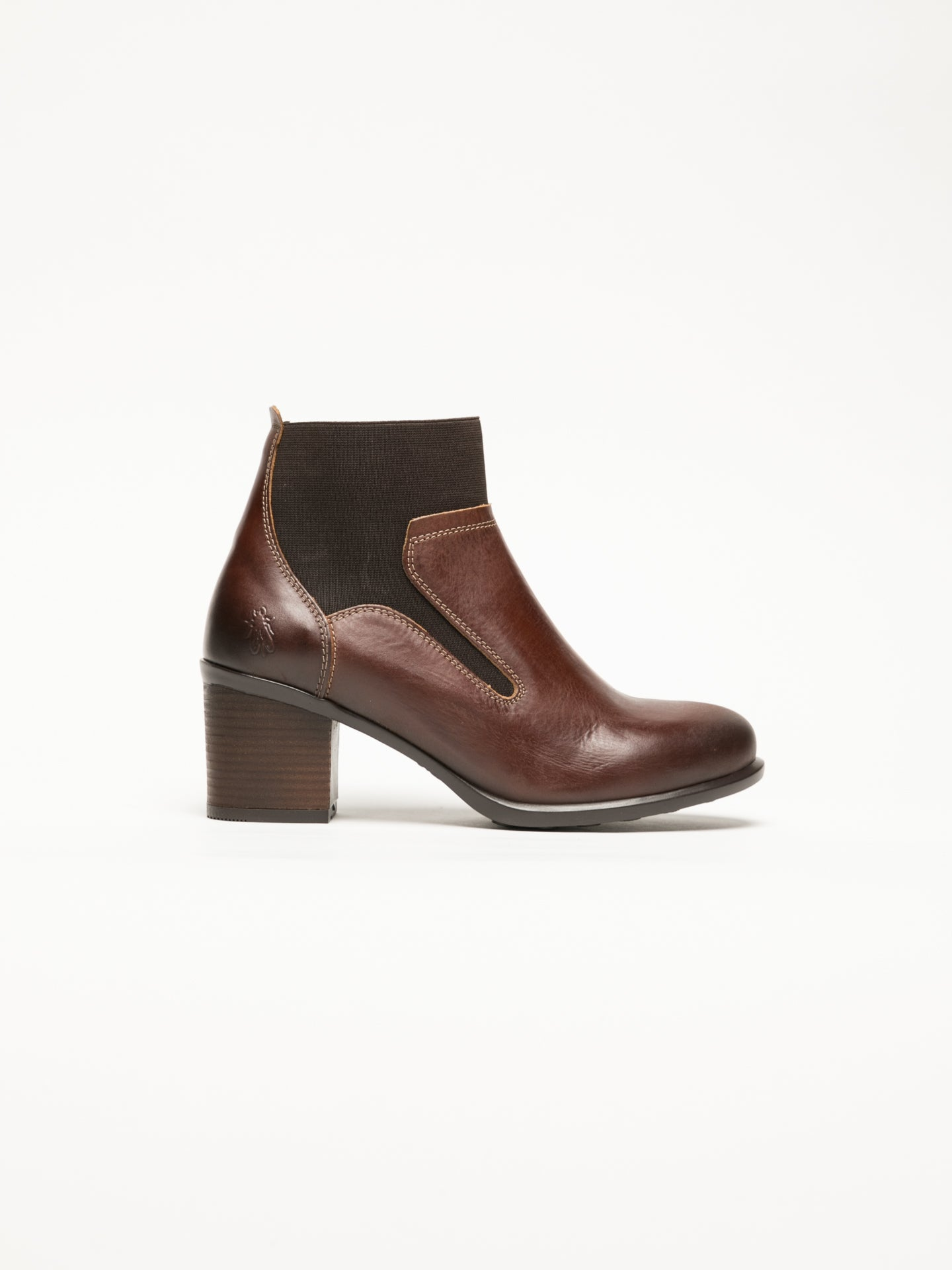 Fly London Brown Round Toe Ankle Boots