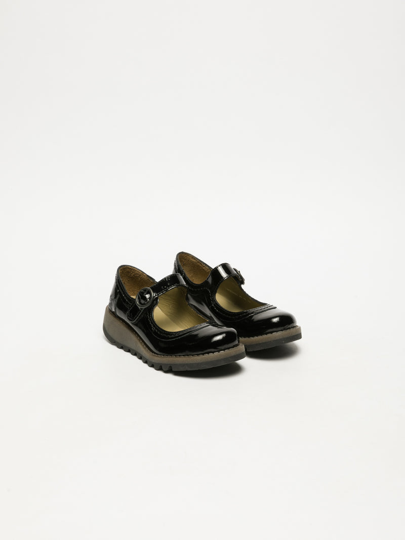 Coal Black Monk Shoes