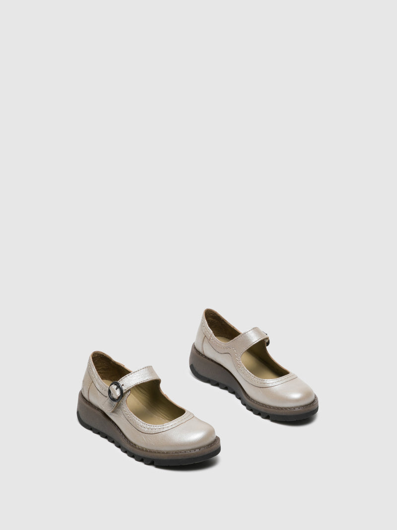 Silver Monk Shoes