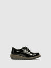 Fly London Carbon Black Lace Fastening Shoes