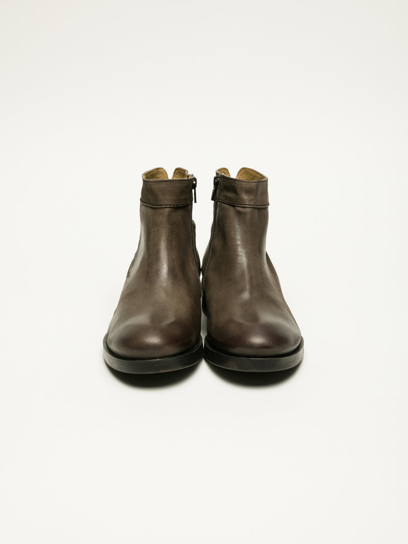 Fly London Brown Zip Up Ankle Boots