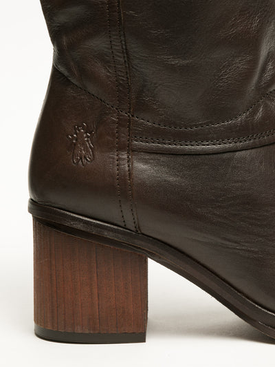 Fly London SaddleBrown Knee-High Boots