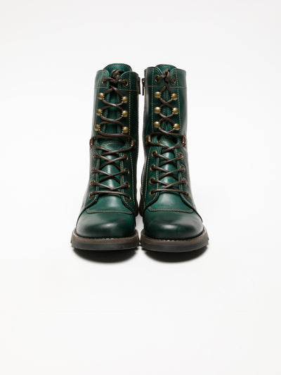 Fly London Green Lace-up Ankle Boots