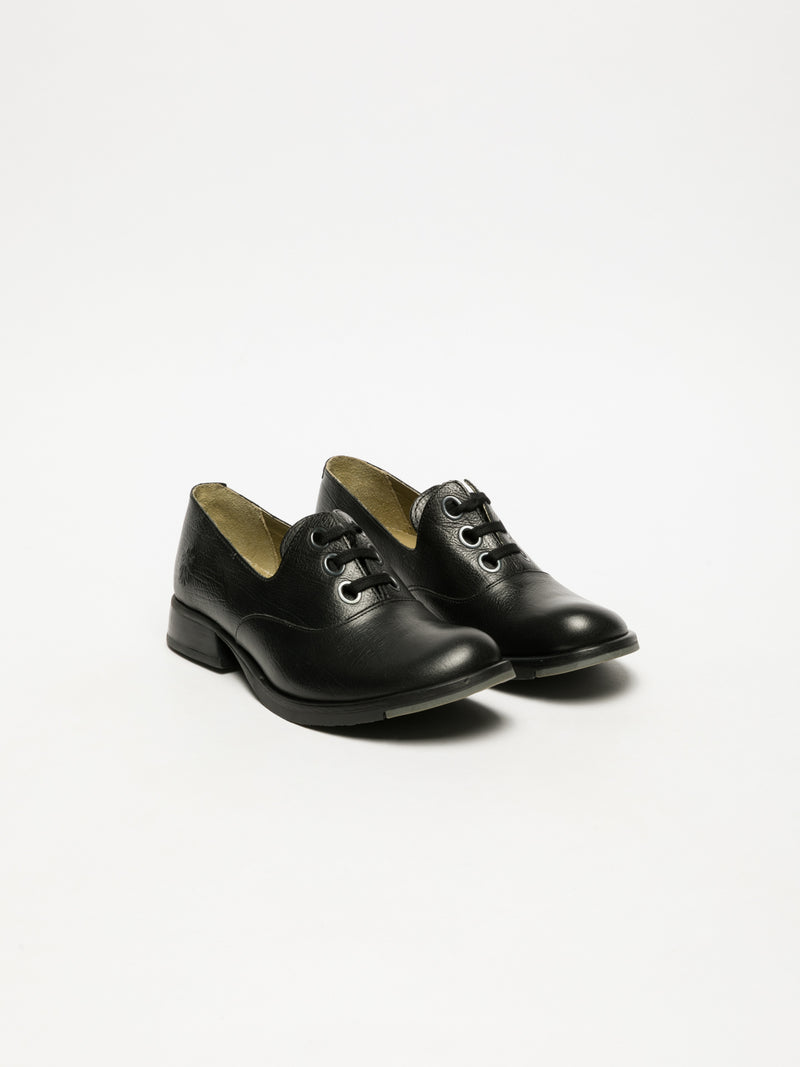 Fly London Black Oxford Shoes