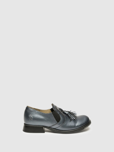 Fly London Gray Round Toe Shoes