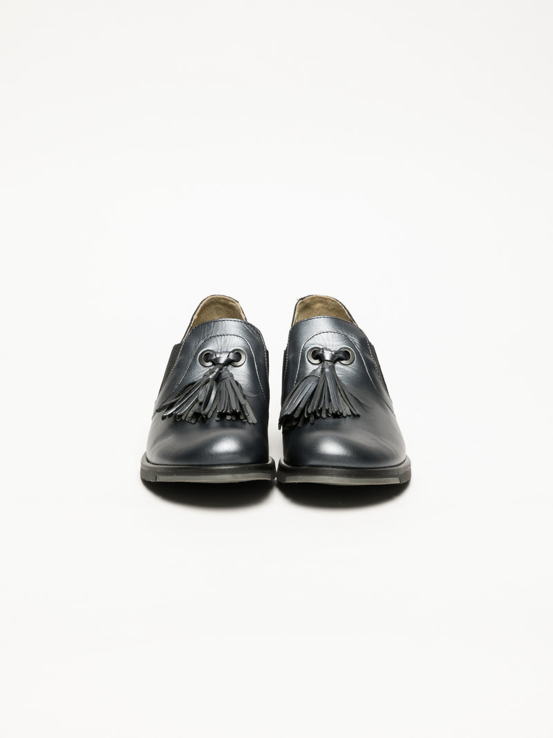 Gray Round Toe Shoes