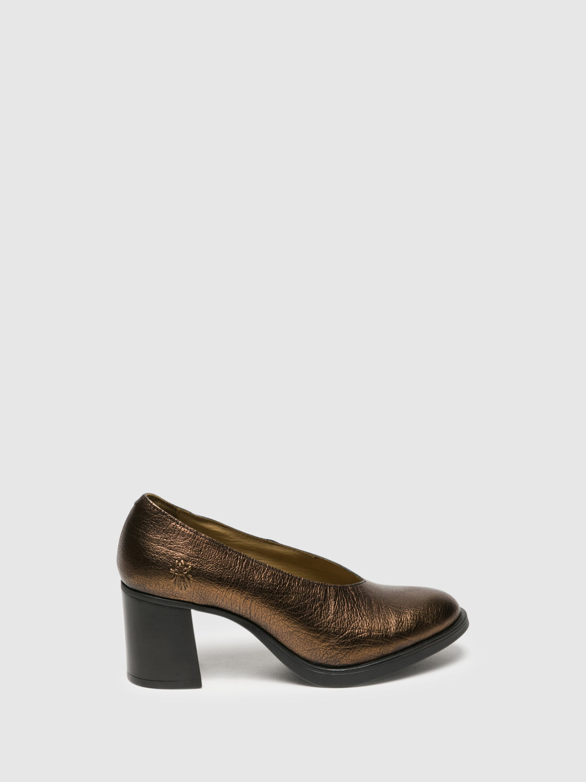 Fly London SandyBrown Block Heel Shoes