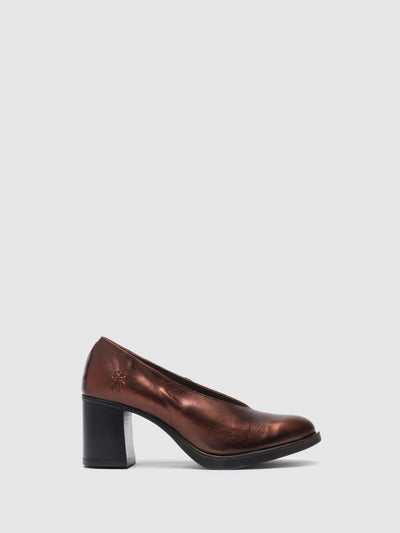 Fly London SaddleBrown Pointed Toe Pumps