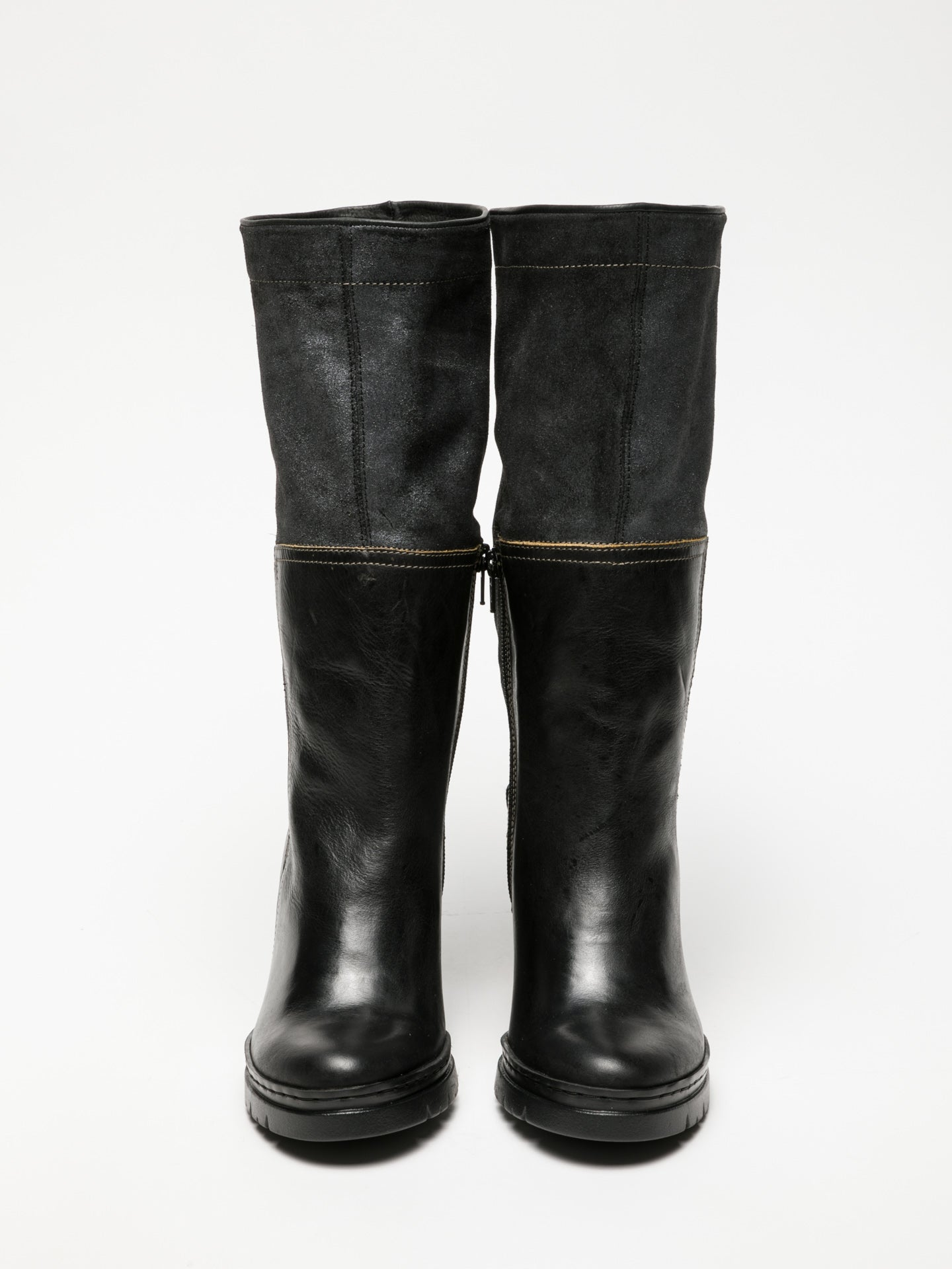 Fly London Black Knee-High Boots