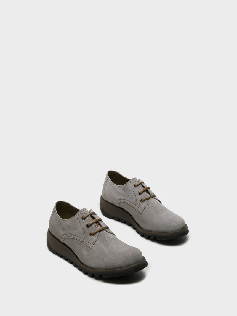 Gray Lace Fastening Shoes