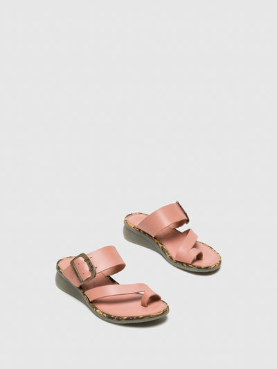 Fly London LightPink Round Toe Mules