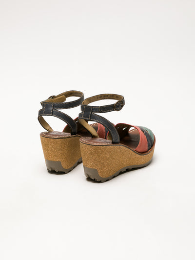 Fly London Multicolor Wedge Sandals