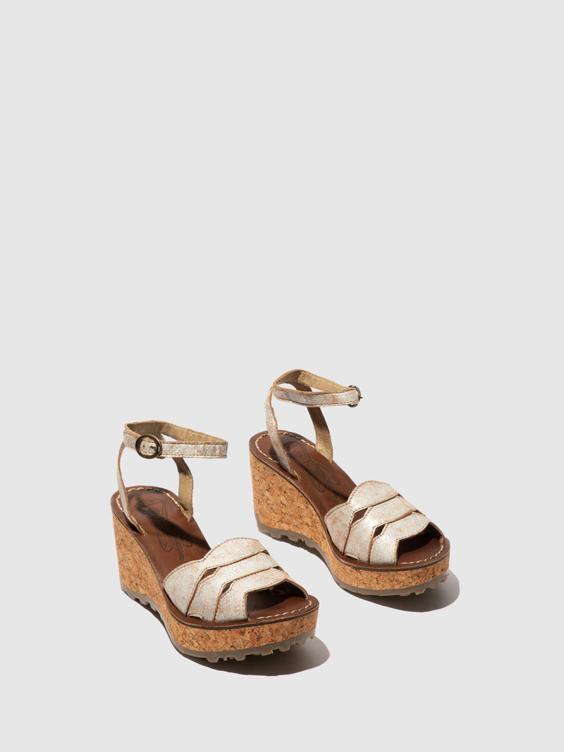 Fly London Wedge Sandals GALM416FLY PEARL