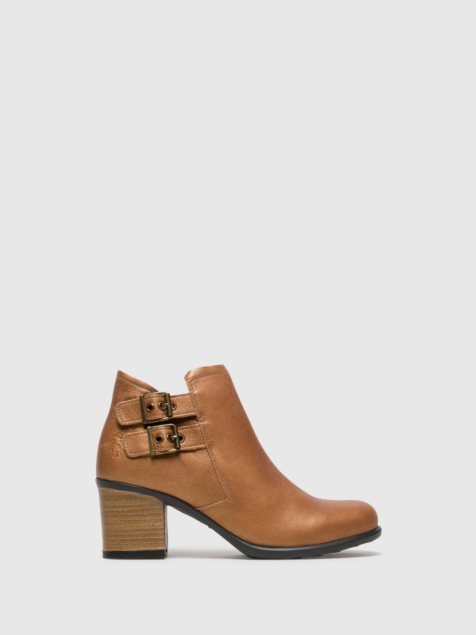 Fly London SandyBrown Zip Up Ankle Boots