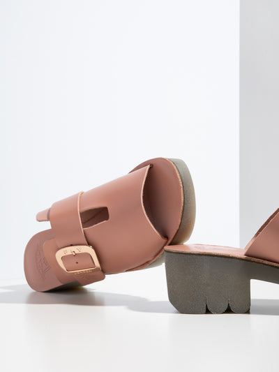 Fly London LightPink Chunky Heel Mules