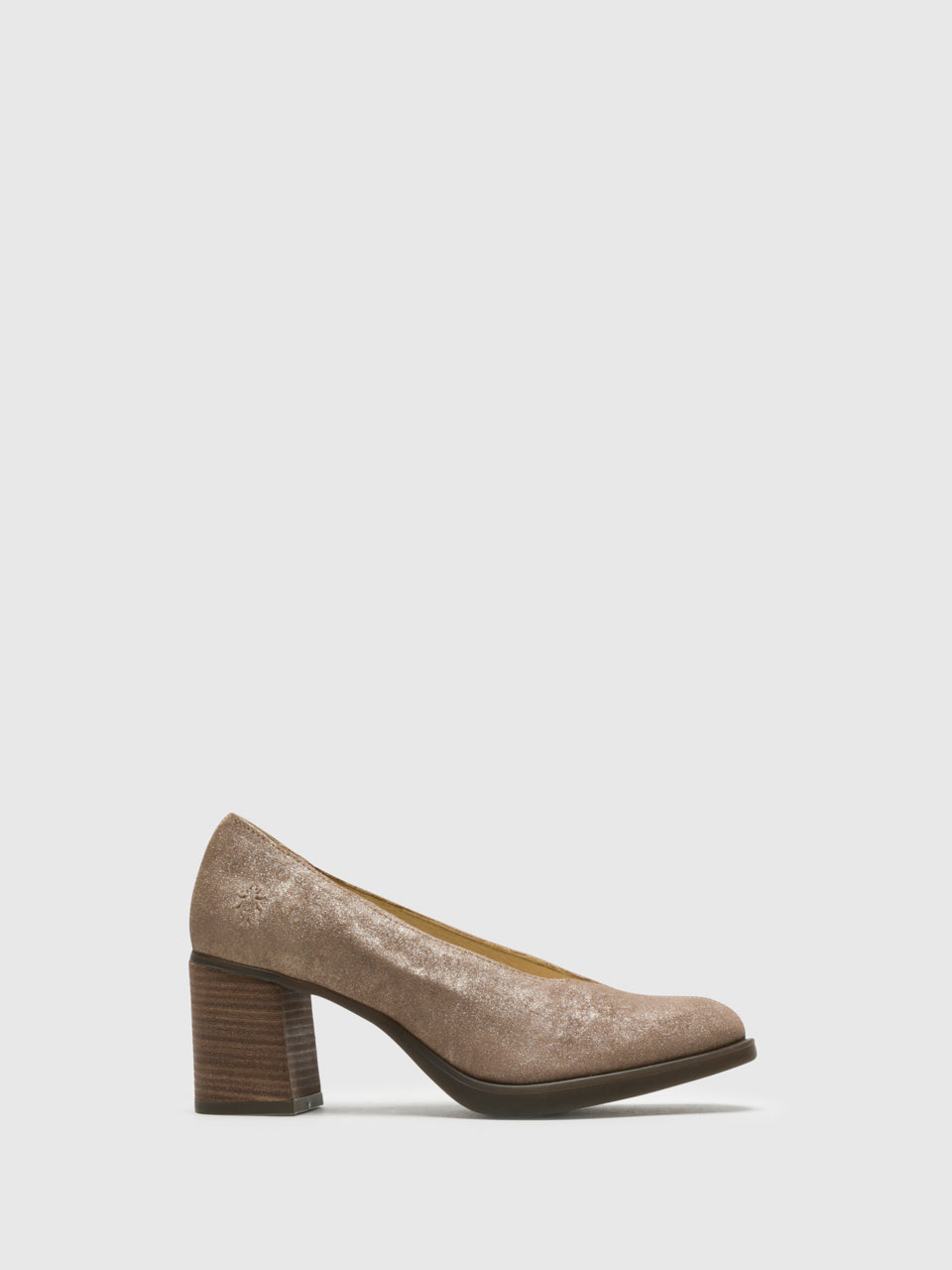 Fly London DarkSalmon Round Toe Pumps Shoes
