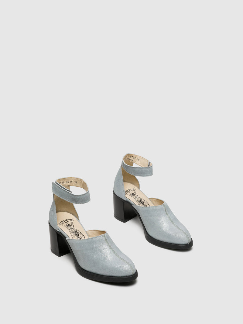 Silver Velcro Sandals