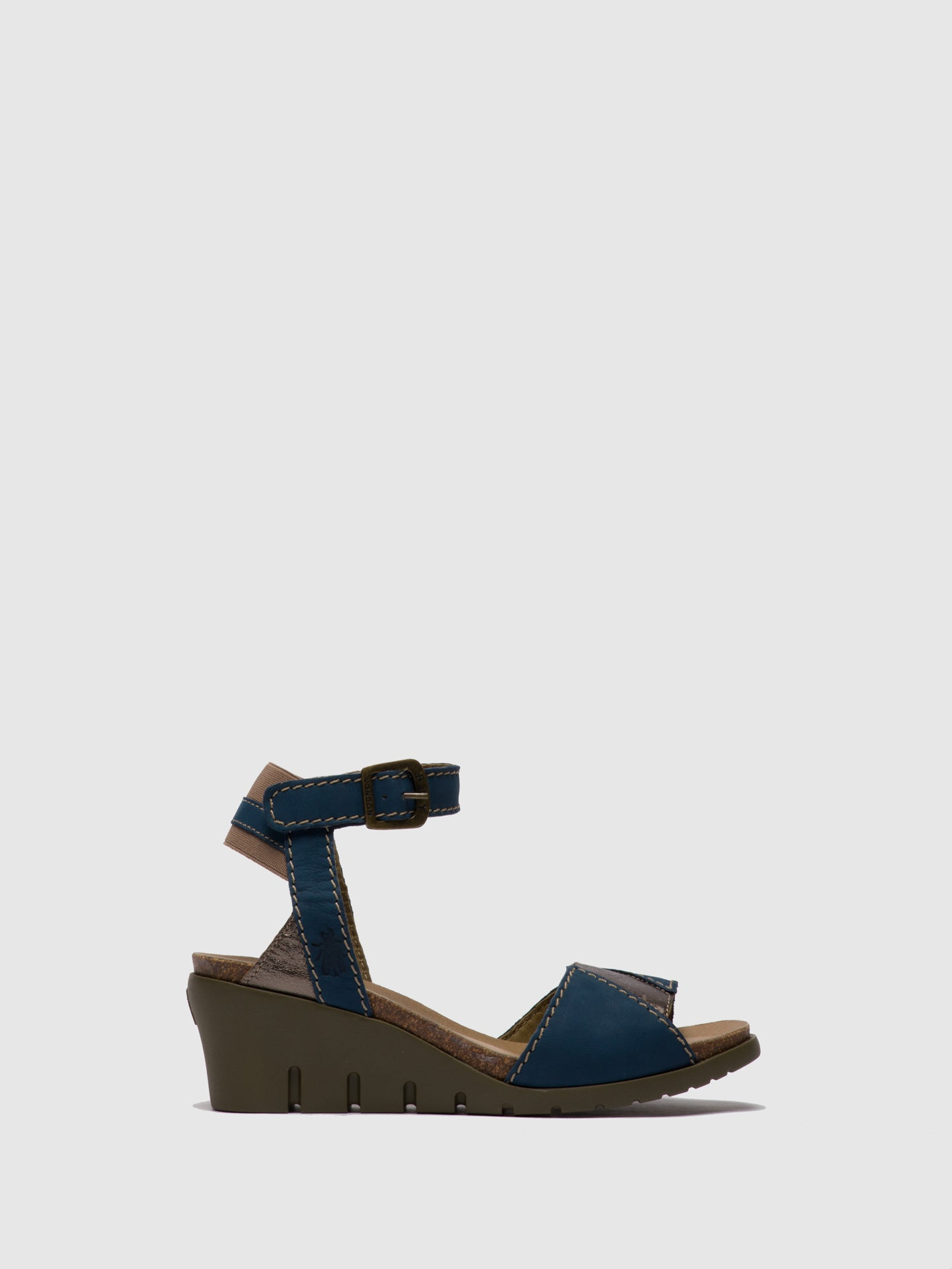 Fly London DarkBlue Ankle Strap Sandals