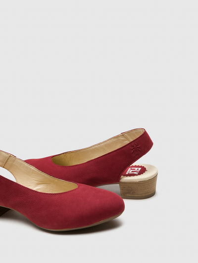 Fly London Red Sling-Back Pumps Shoes