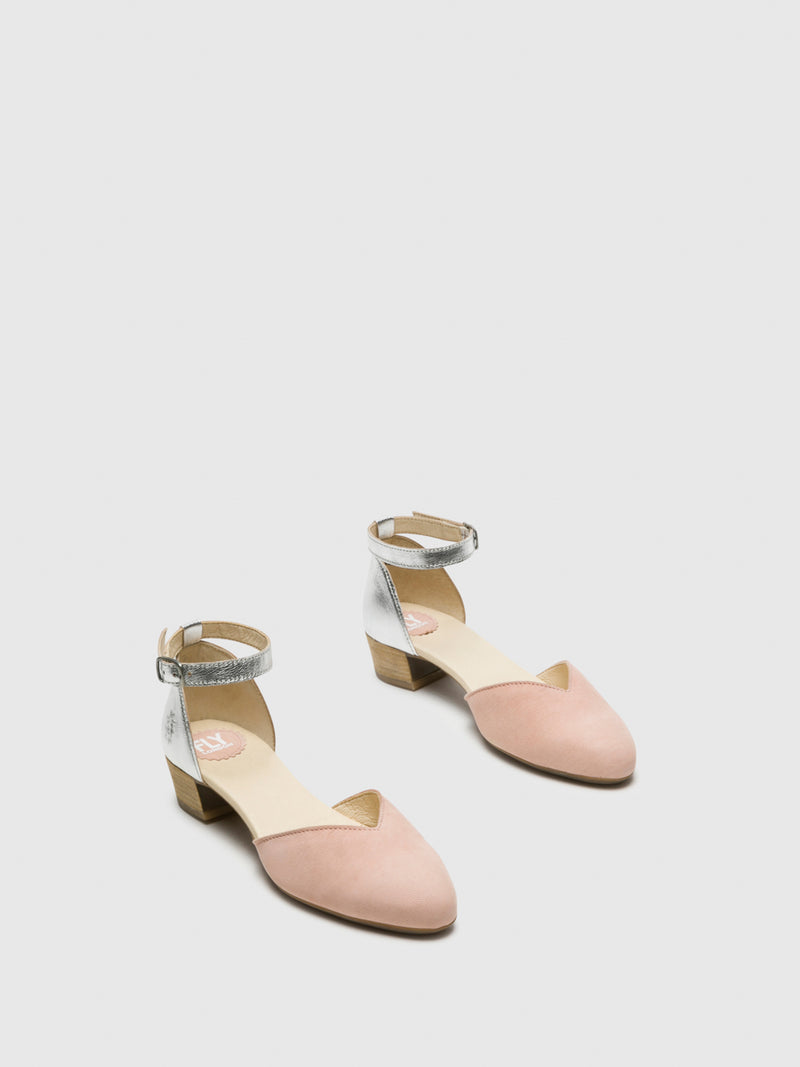 Fly London LightPink Ankle Strap Sandals