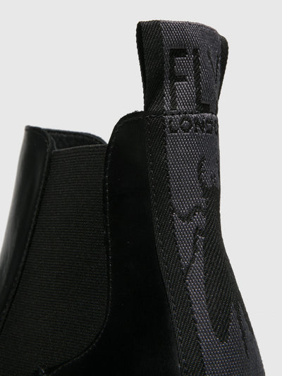 Fly London Chelsea Ankle Boots TOPE520FLY RUG BLACK