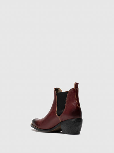 Fly London DarkRed Chelsea Ankle Boots