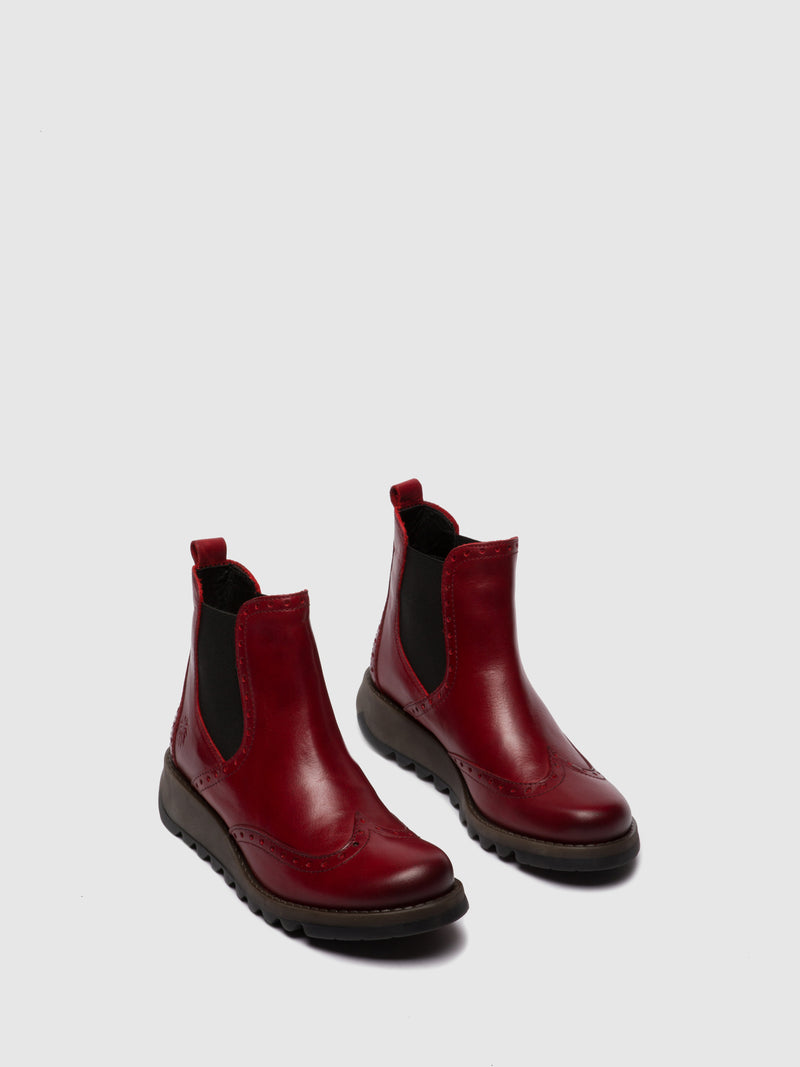 Fly London Chelsea Ankle Boots SONO523FLY RED