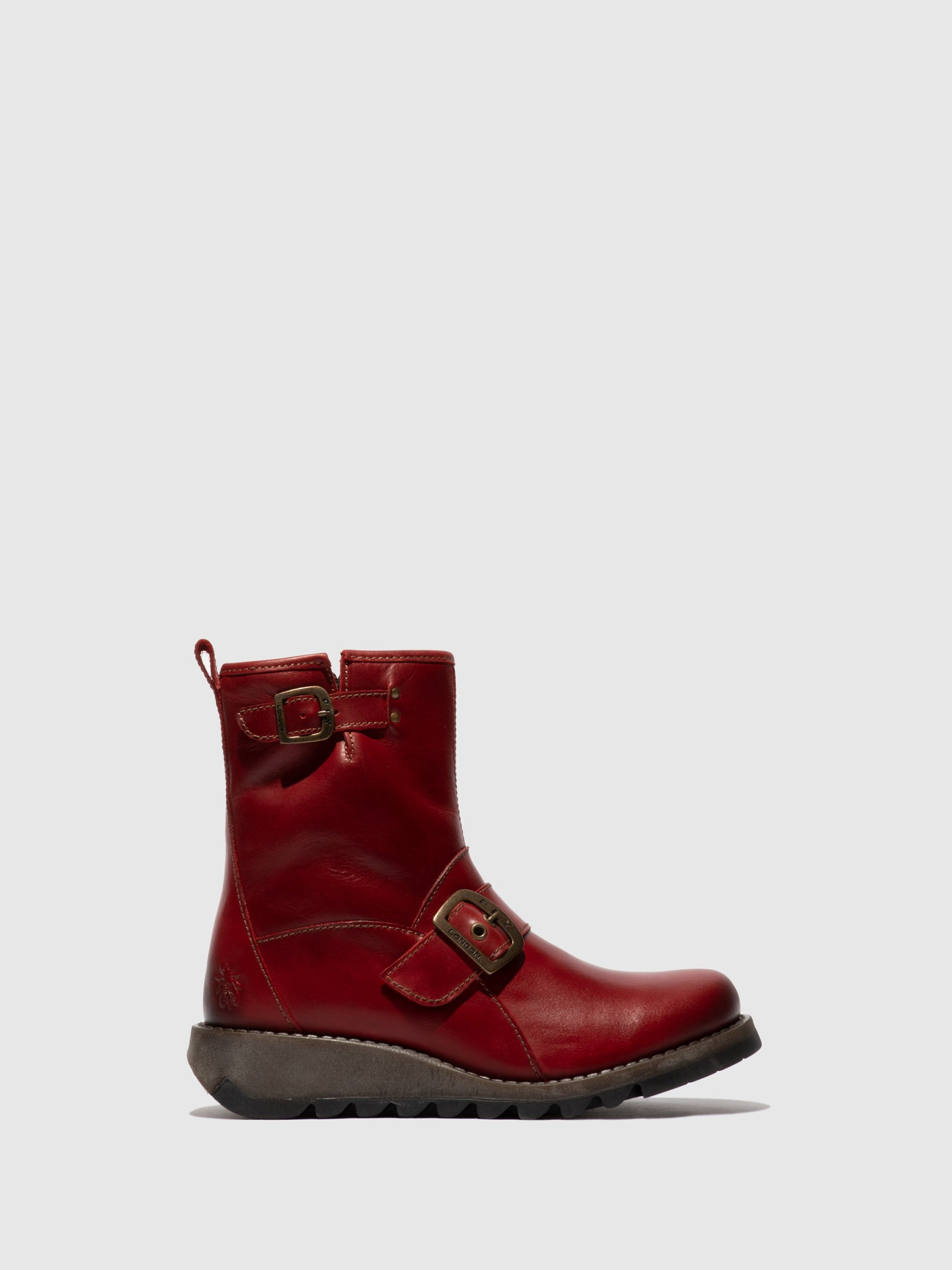 Fly London Buckle Ankle Boots SINO525FLY RED