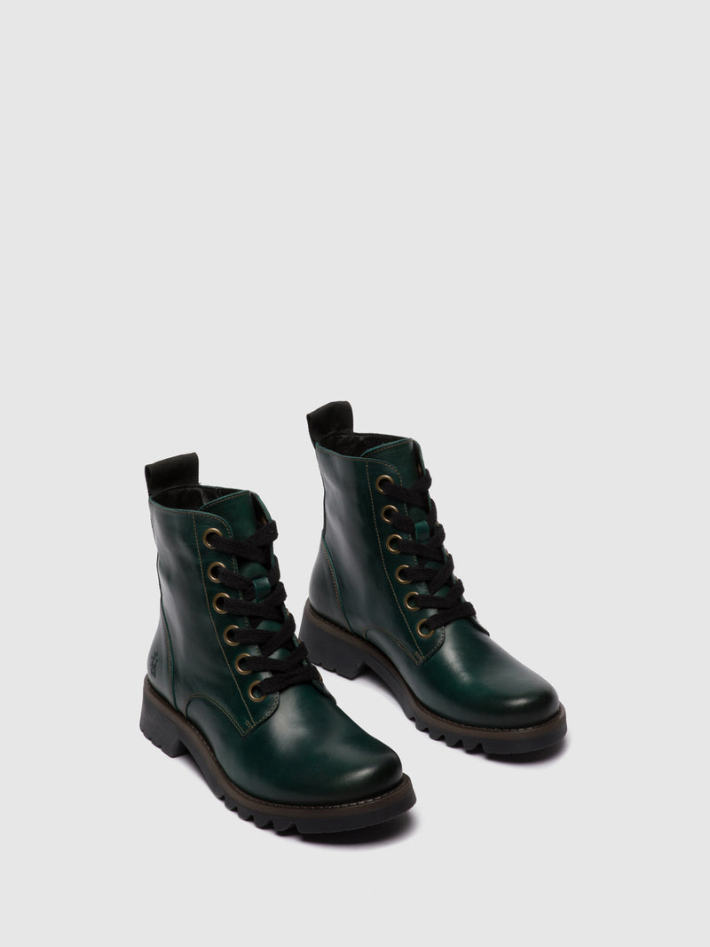 Fly London Lace-up Ankle Boots RAGI539FLY PETROL