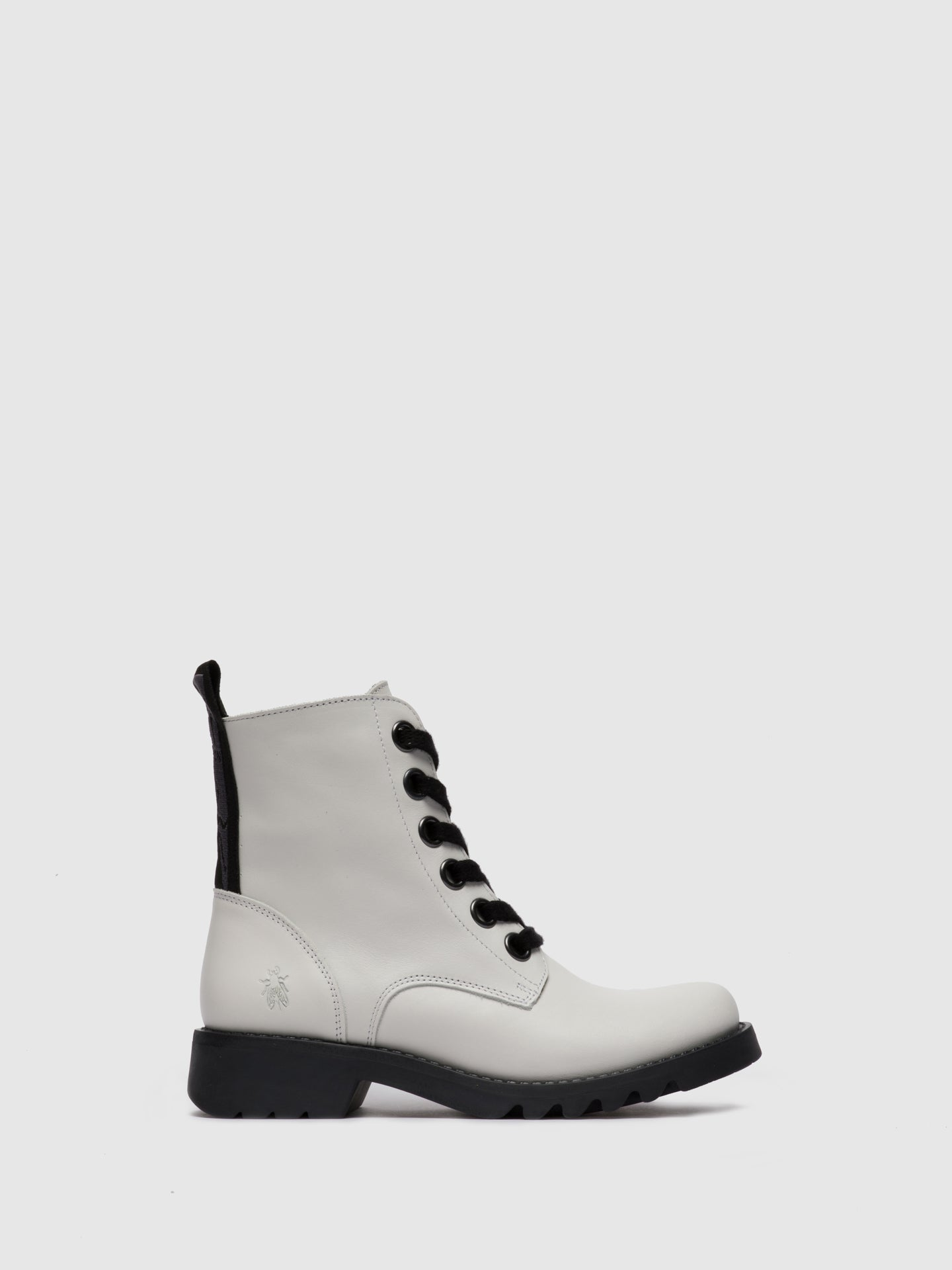 Fly London Lace-up Ankle Boots RAGI539FLY RUG OFFWHITE